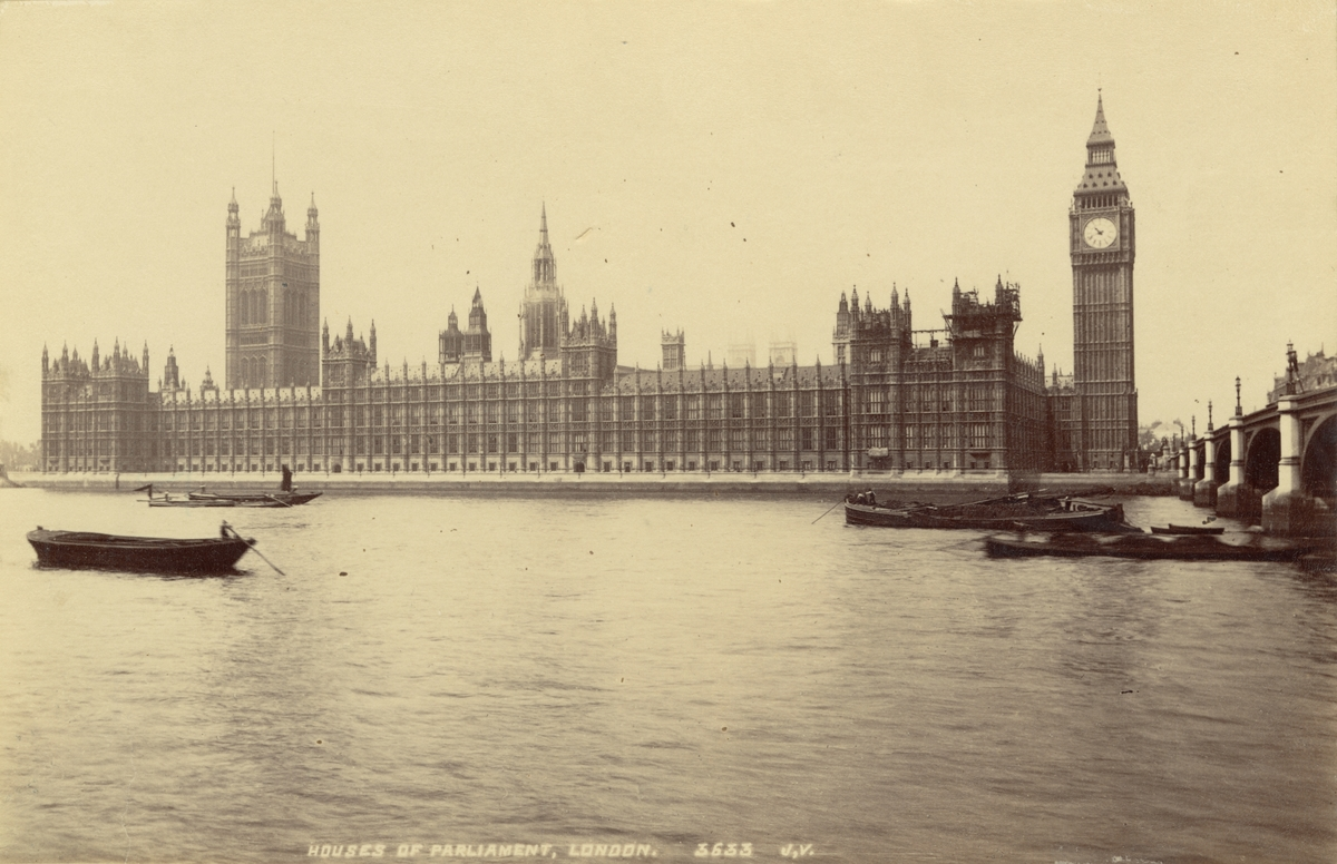 House of Parliament, London, 1886.