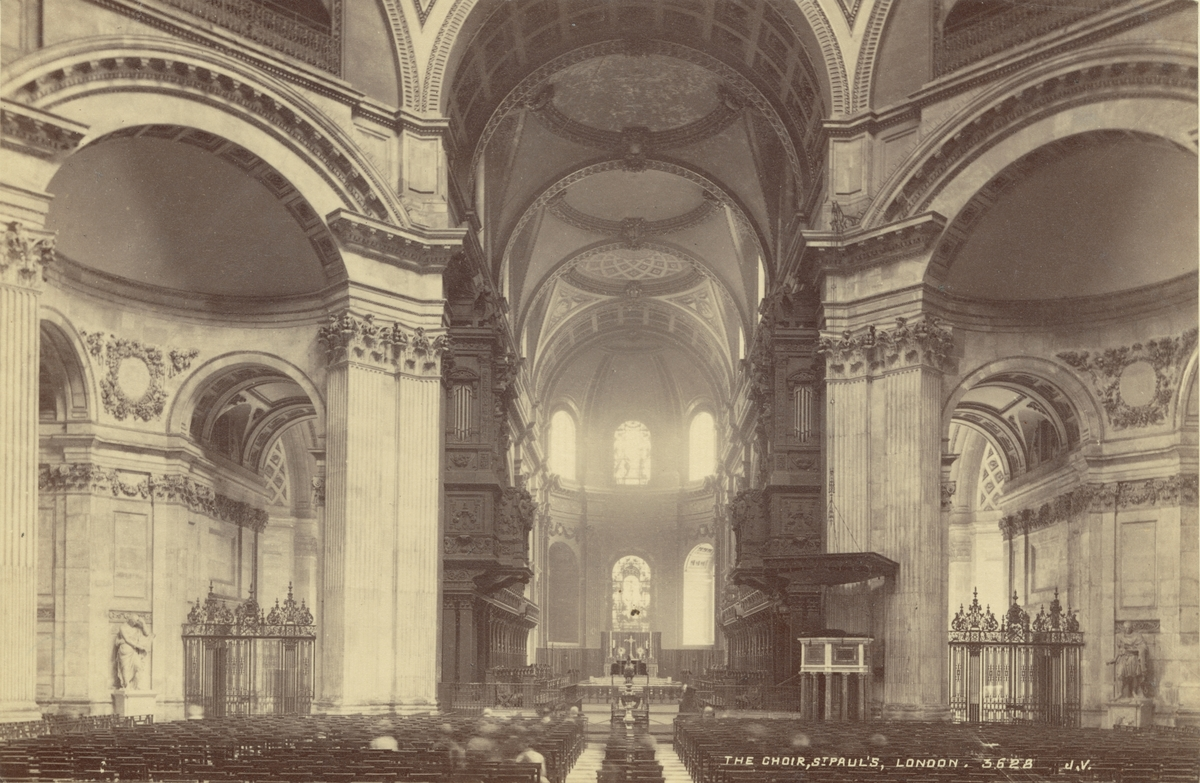 St. Pauls Cathedral, London, 1886.