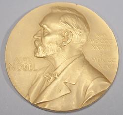 Nobelmedalj och diplom