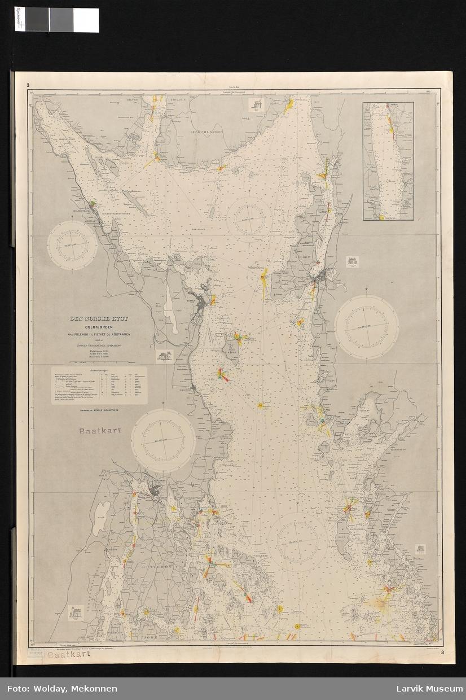 Den Norske kyst. Norge. Oslofjorden fra Fulehuk til Filtvet og Rødtangen.