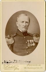 Porträtt av Jacob Daniel Blidberg, kapten vid Jönköpings reg