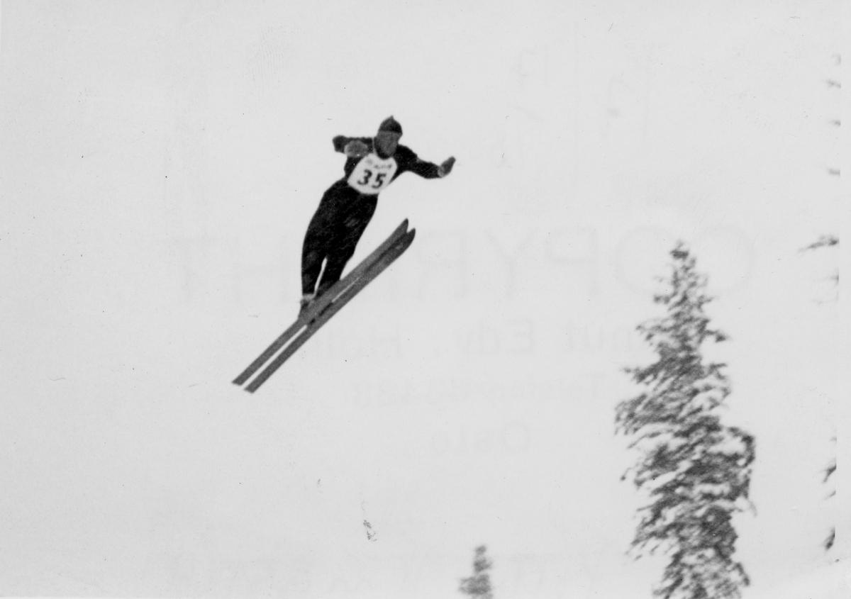 Kongsberg skier Petter Hugsted in action