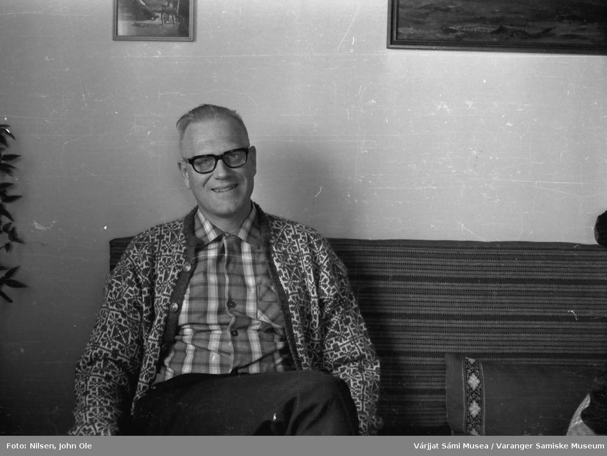 Portrett av Alf J. Andersen (sannsynligvis). Juni 1966 i Bunes.