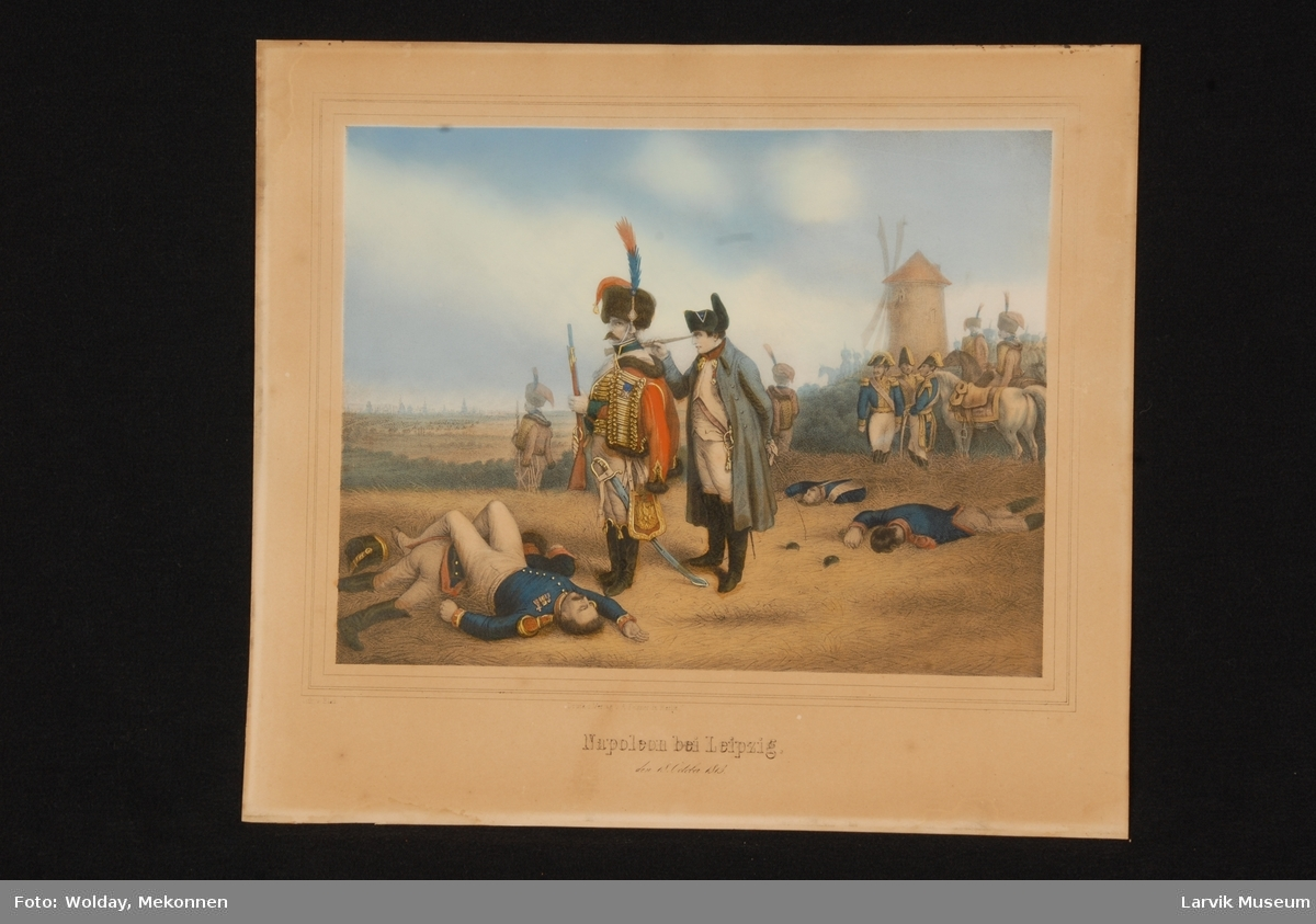 Napoleon med soldater