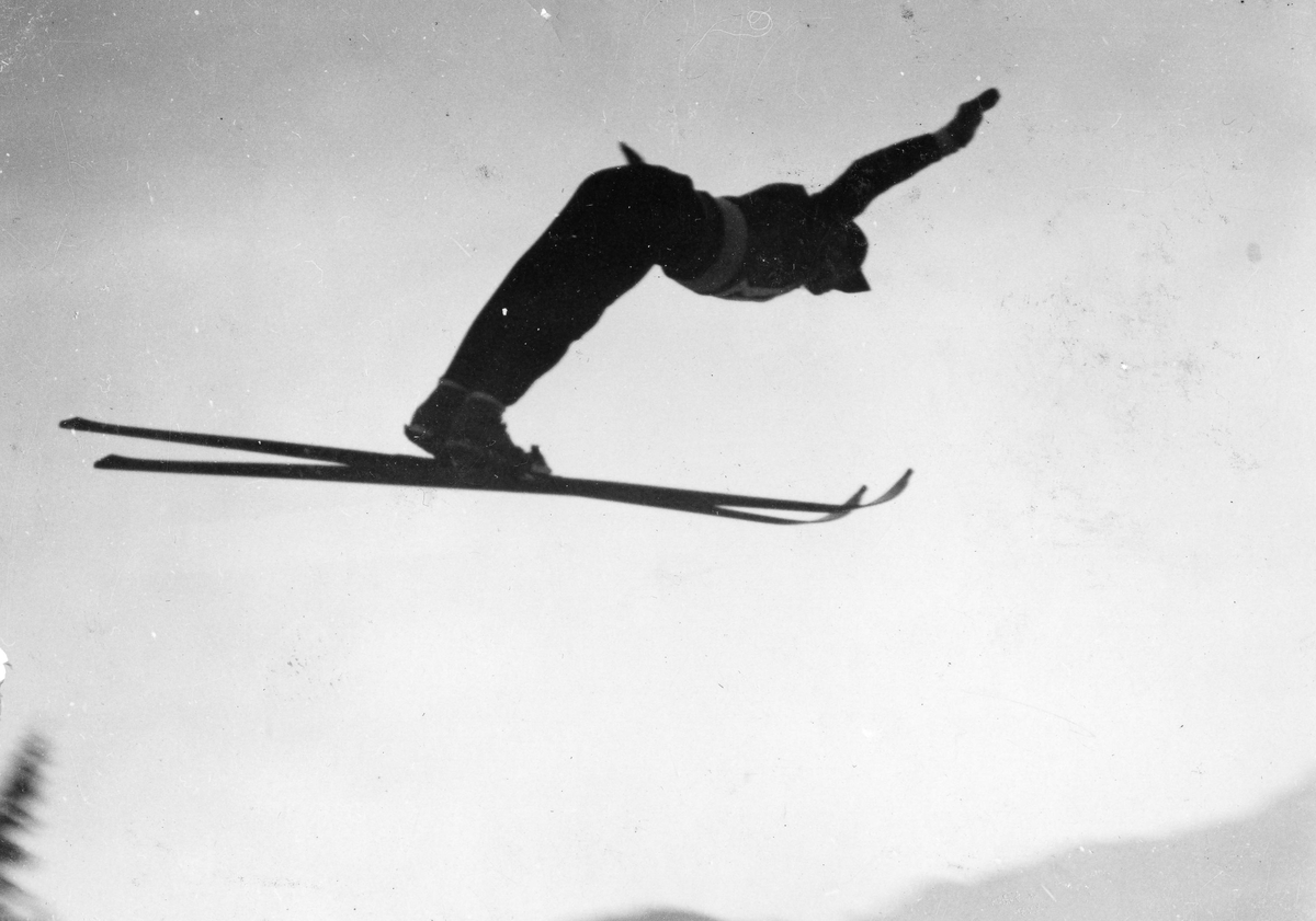 Kongsberg skier Hans Beck in OG in Lake Placid