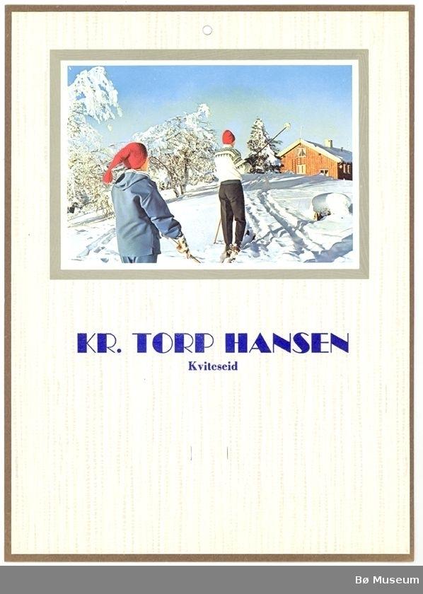 To personar på skitur