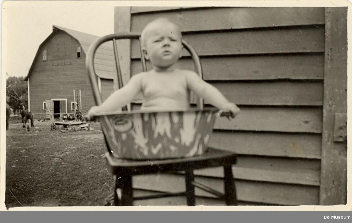 Floyd Raudmyr som barn i USA.