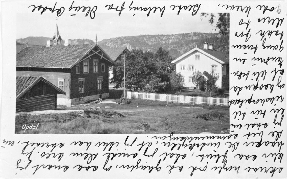 Bygningane på Uvdal - prospektkort