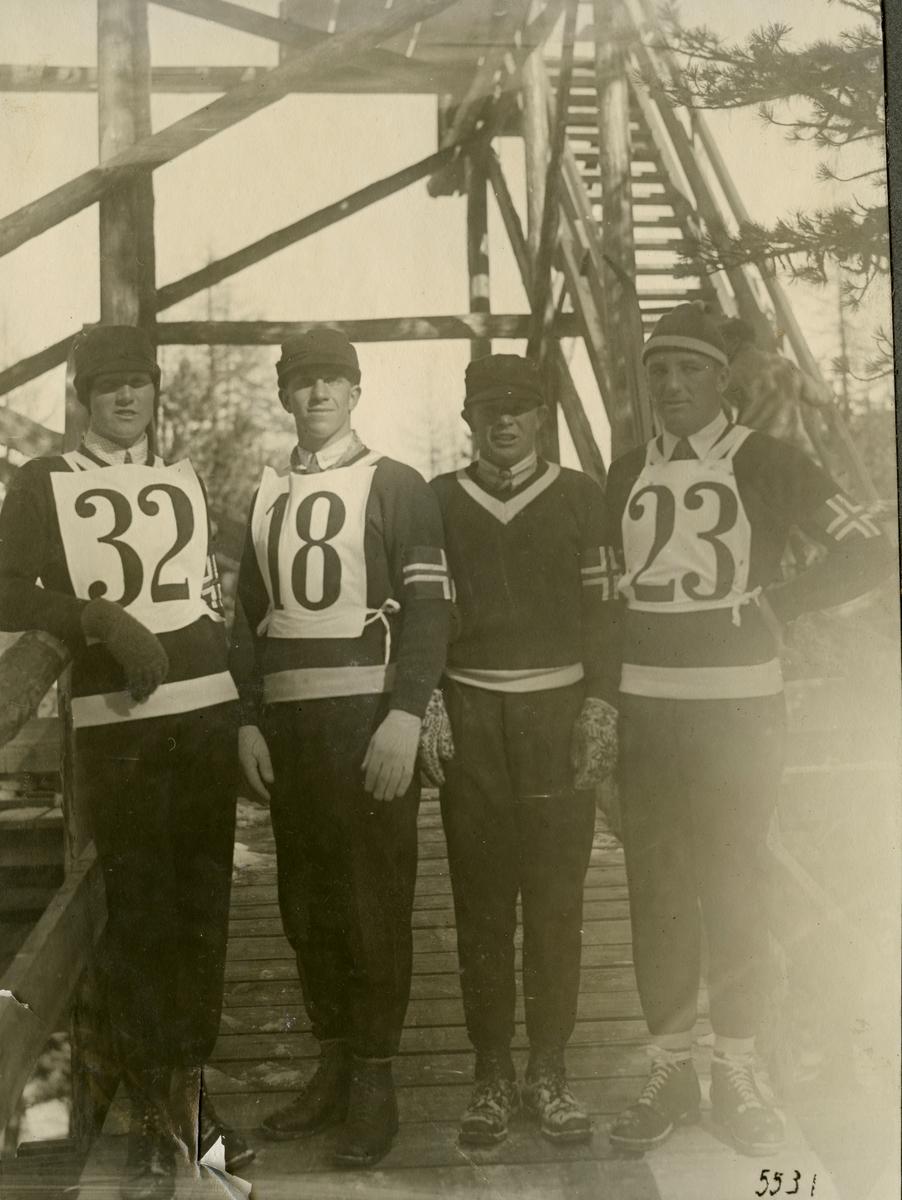 Norwegian ski jumping team in OG 1928