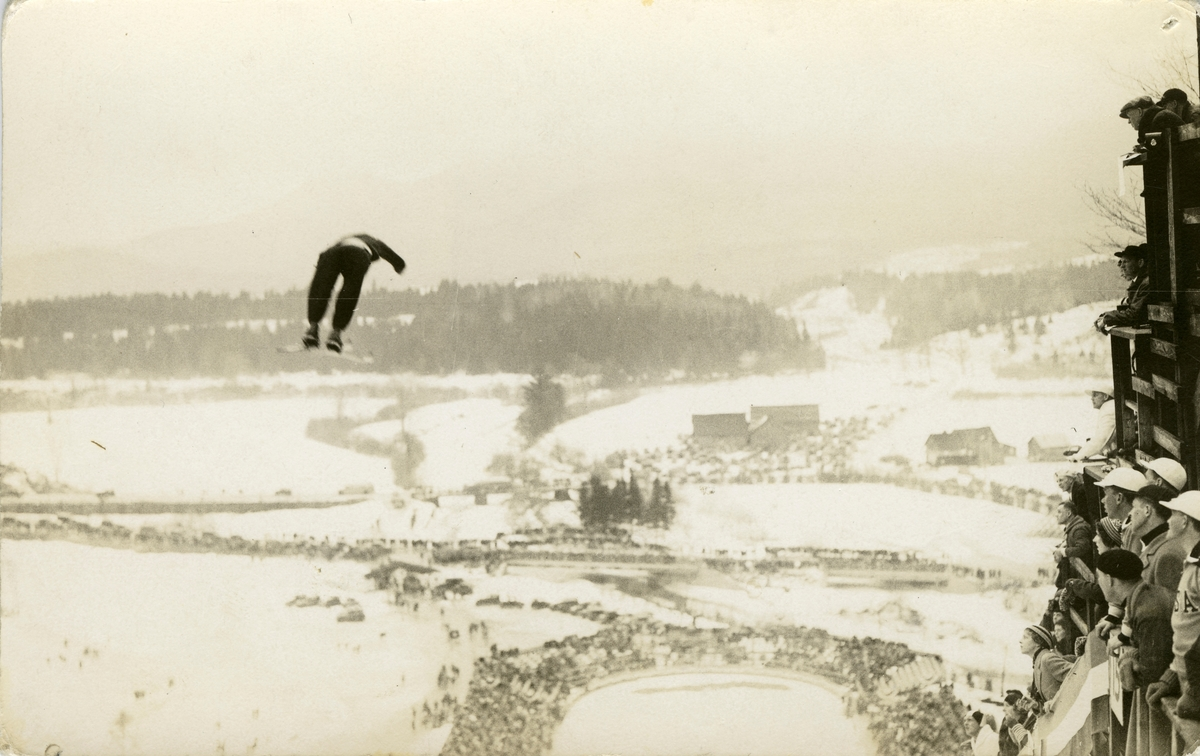 Athlete Birger Ruud in OG at Lake Placid 1932