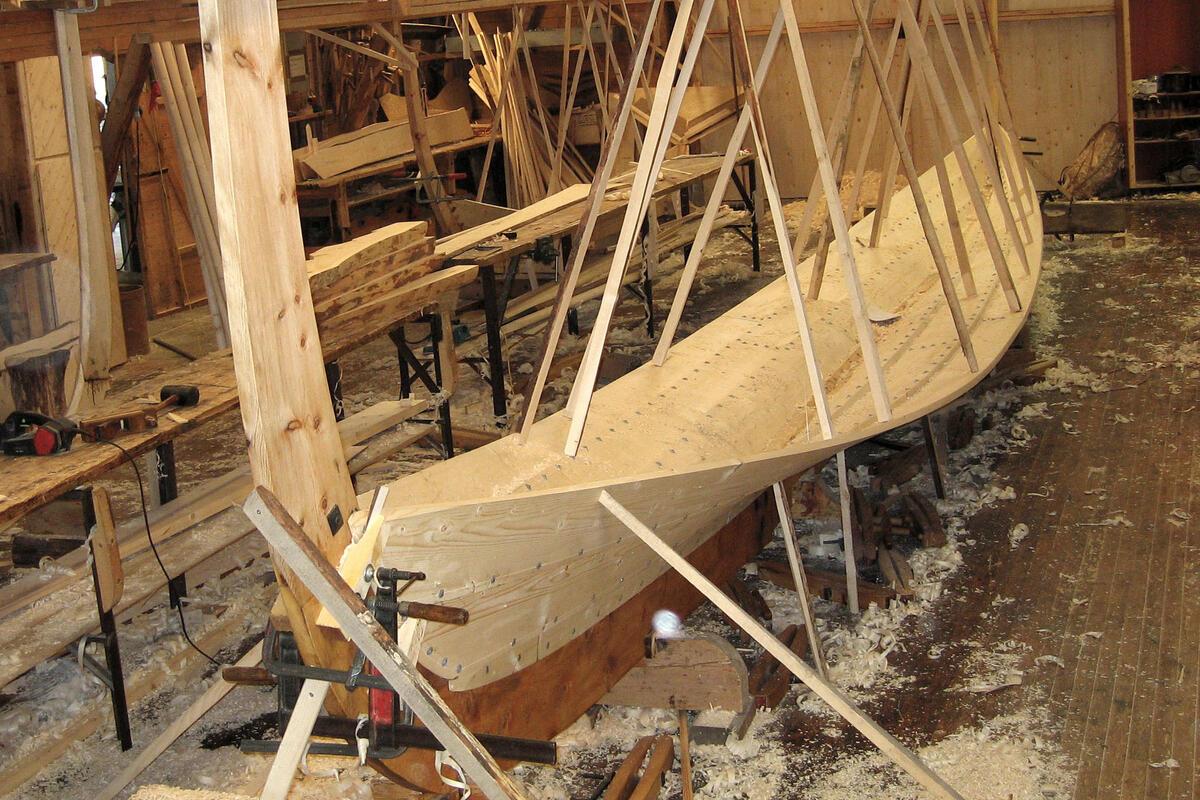 Bygging av Dragens Vinge, vinteren 2009 (Foto/Photo)