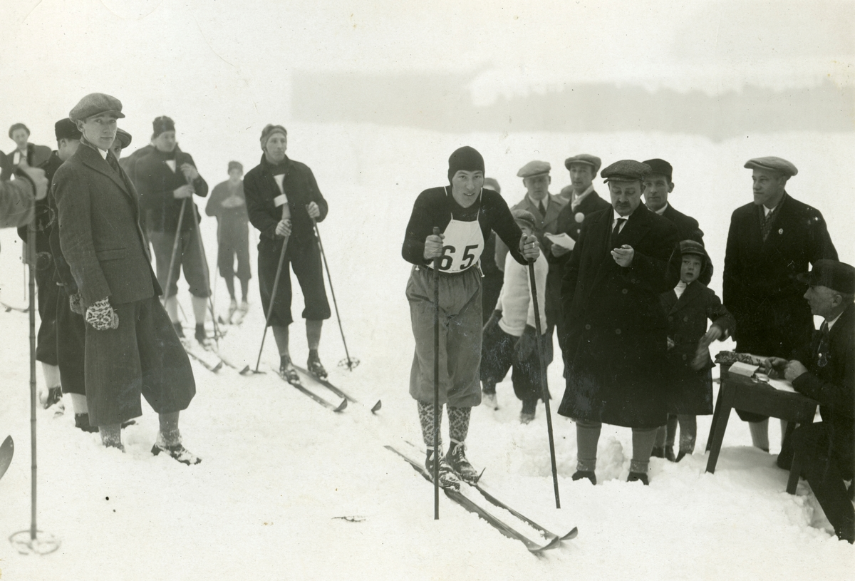 Reidar Andersen in a cross country skiing competition