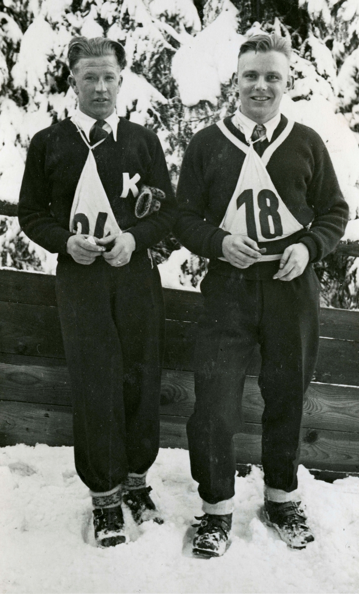 Norwegian skiers at Johangeorgenstad
