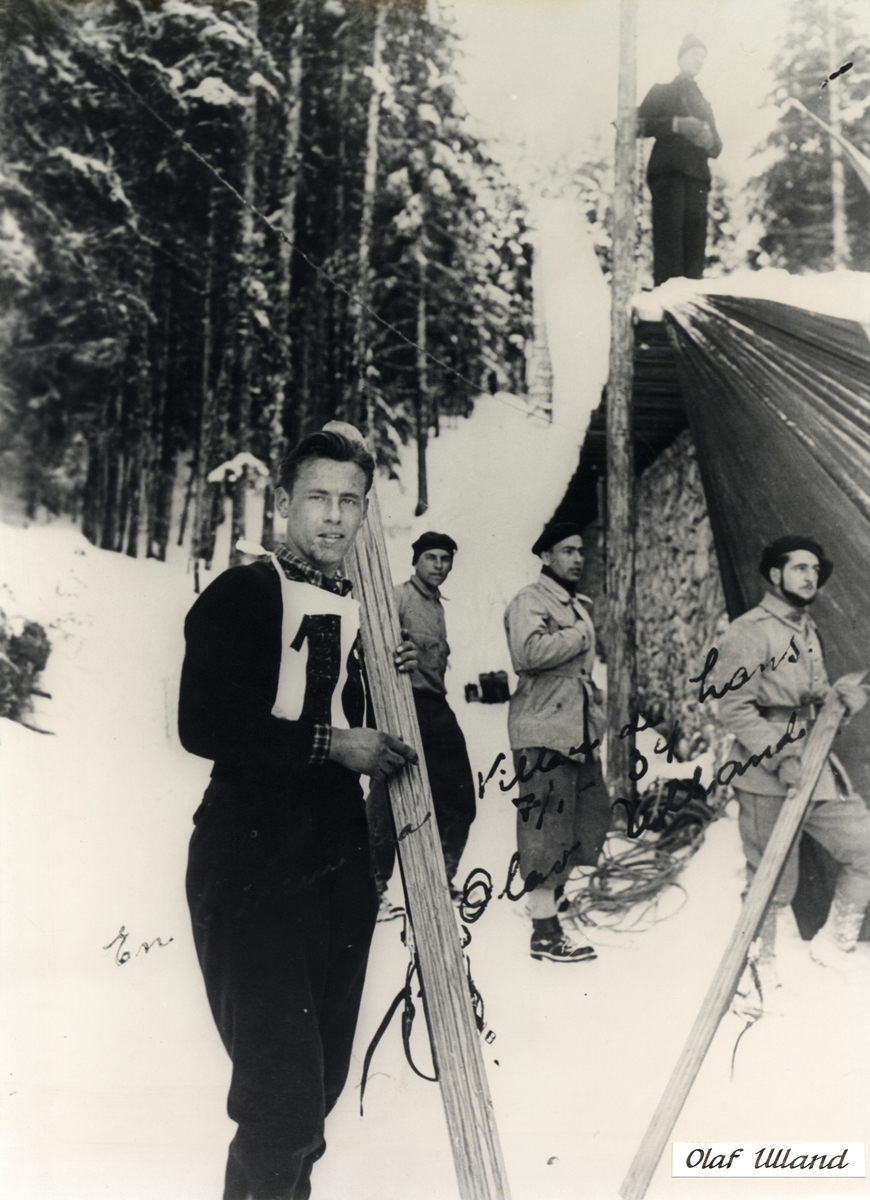 Kongsberg skier Olaf Ulland during competition in France