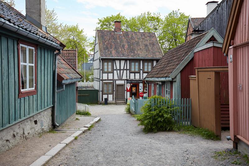 Hus fra Enerhaugen og Hammersborg på Norsk Folkemuseum (Foto/Photo)