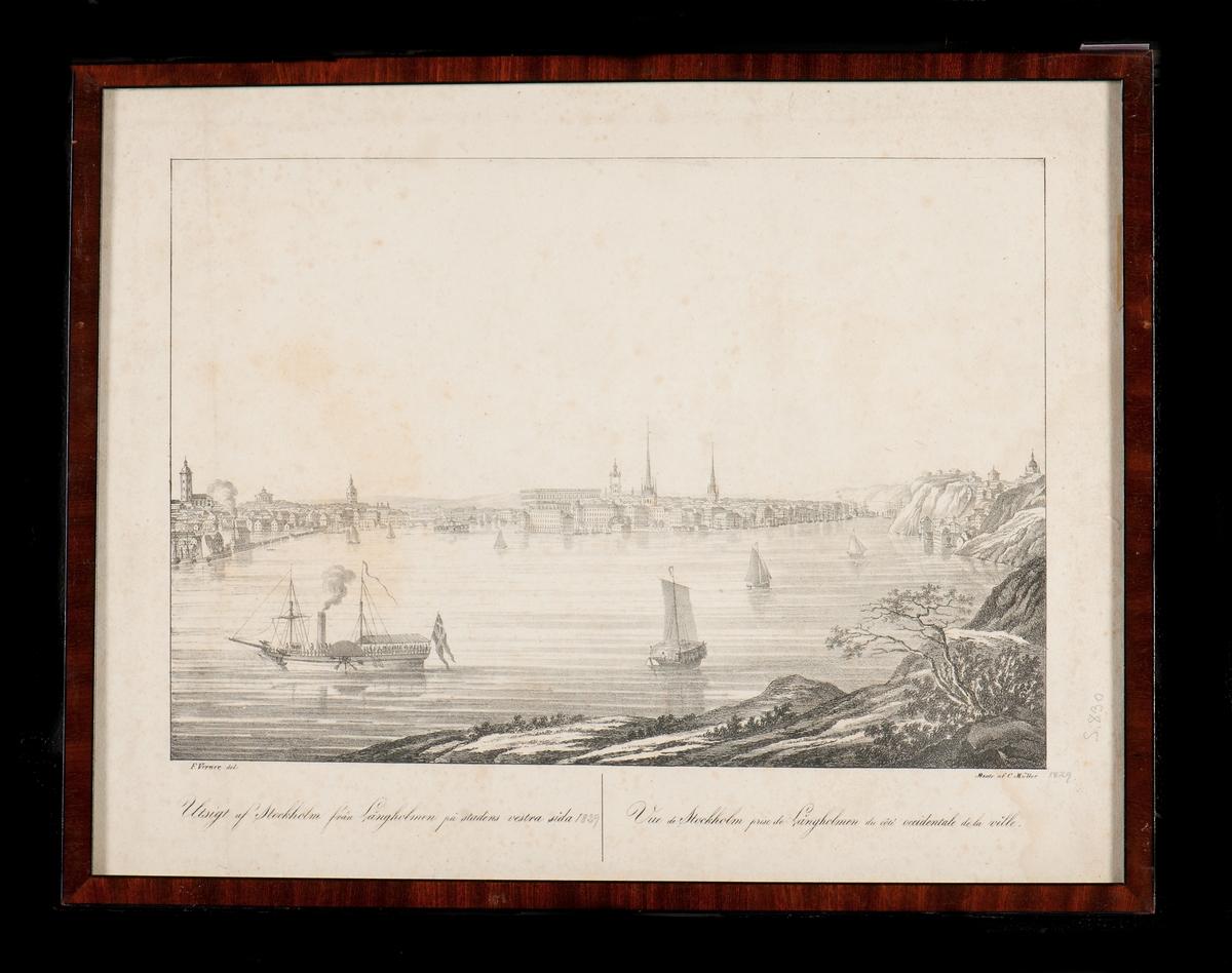 Utsikt över Stockholm från Långholmen mot stadens västra sida.