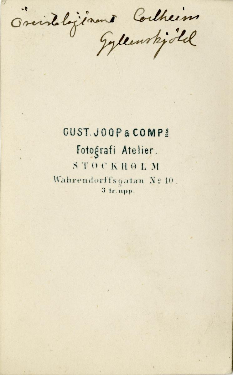 Porträtt av Adam Henrik Carlheim-Gyllensköld, överstelöjtnant vid Kronobergs regemente I 11. Se även bild AMA.0021794.