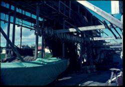 Vadsø i 1973. Not-tørkehjell.