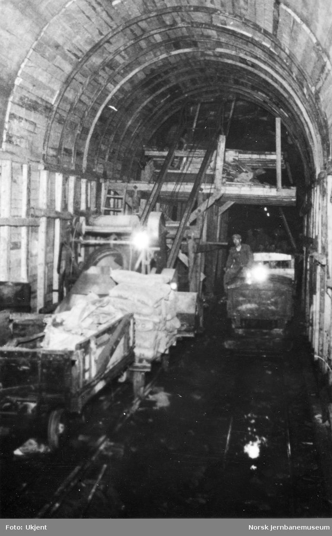 Hægebostad tunnel - støpebukk