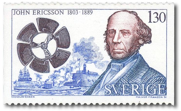 John Ericsson och propeller.