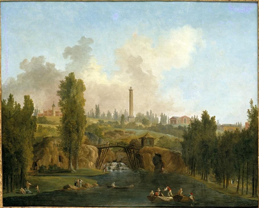 Utsikt över Mérévilles slottspark