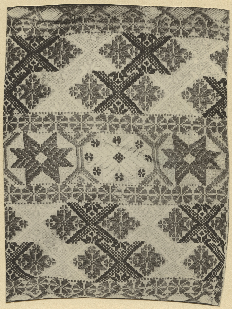 Textil, del av, i upphämta.