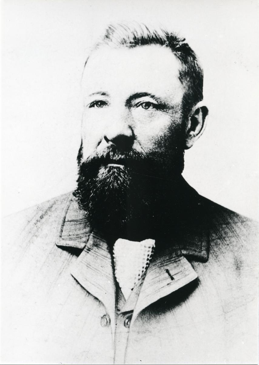 Portrett av gullgraver Mikkel Olsen Gladhaug.