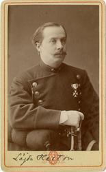 Porträtt av löjtnant Heeton.