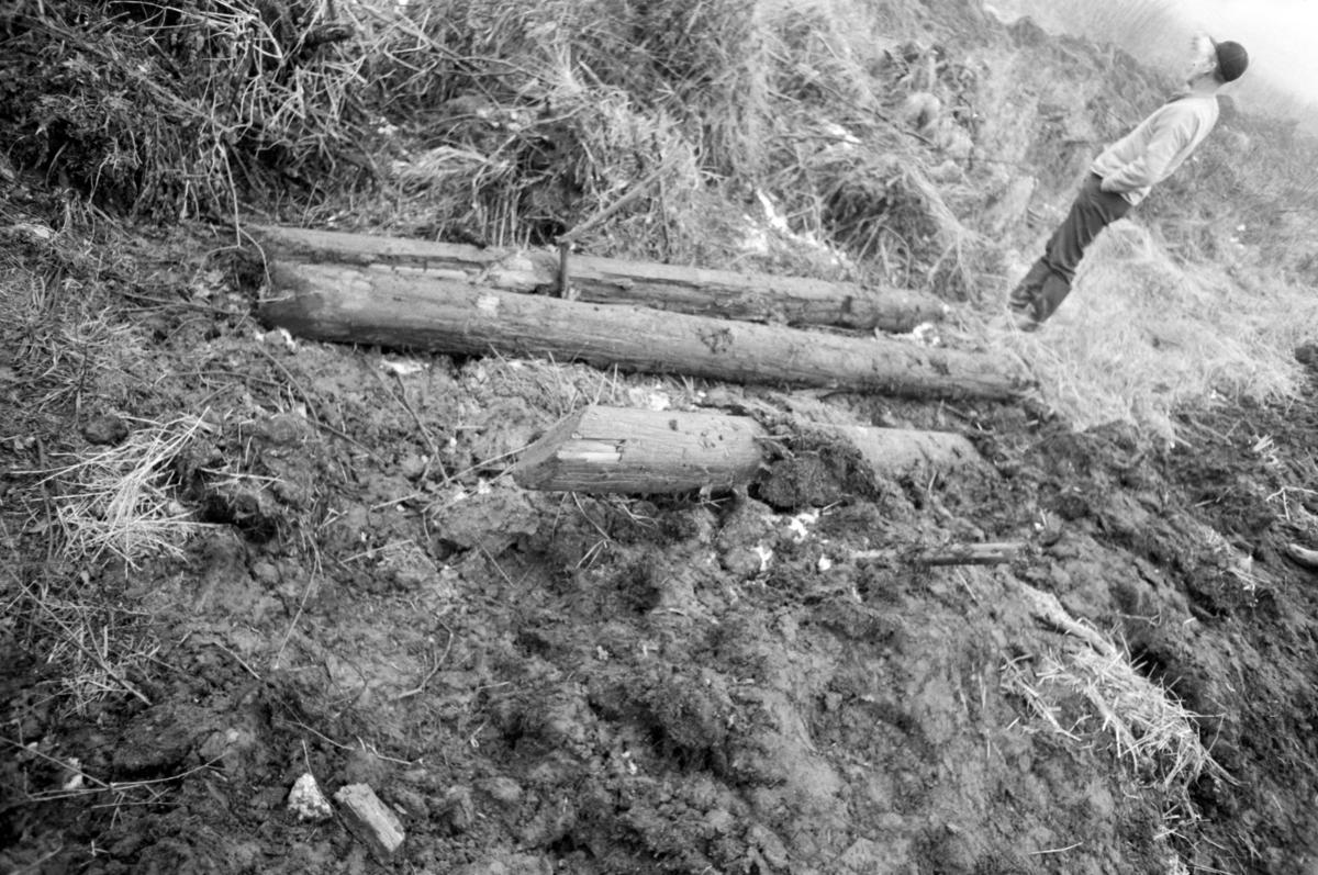 Stokkebåt, funnet på Kongsparten, Stange.