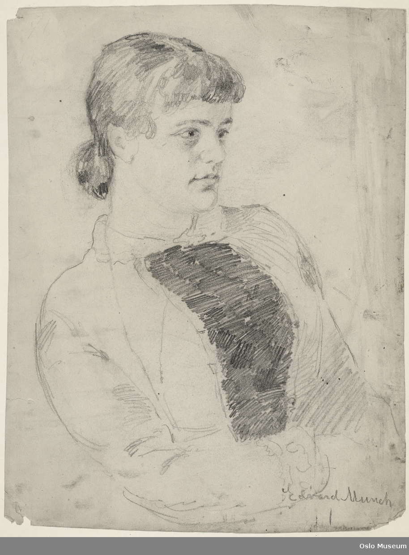 portrett, kvinne, hoftebilde