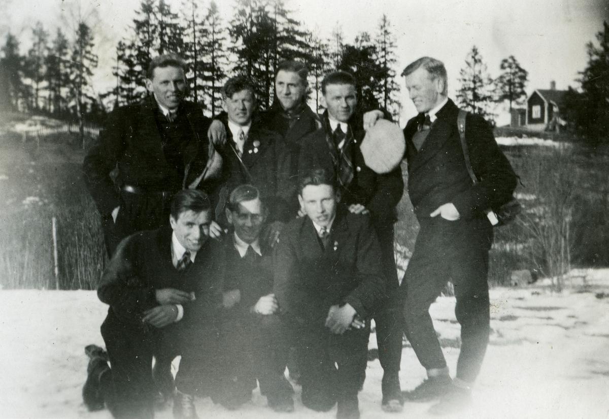 Kongsberg skiers posing