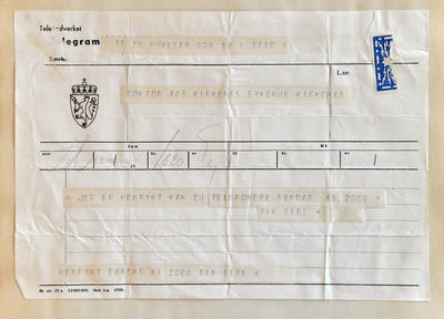 Radiostasjon Ny-Ålesund telegram 2 (Foto/Photo)