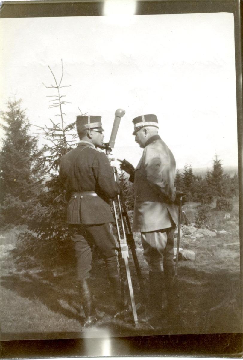 Sparre, överste. General Hedengran. Målobservation