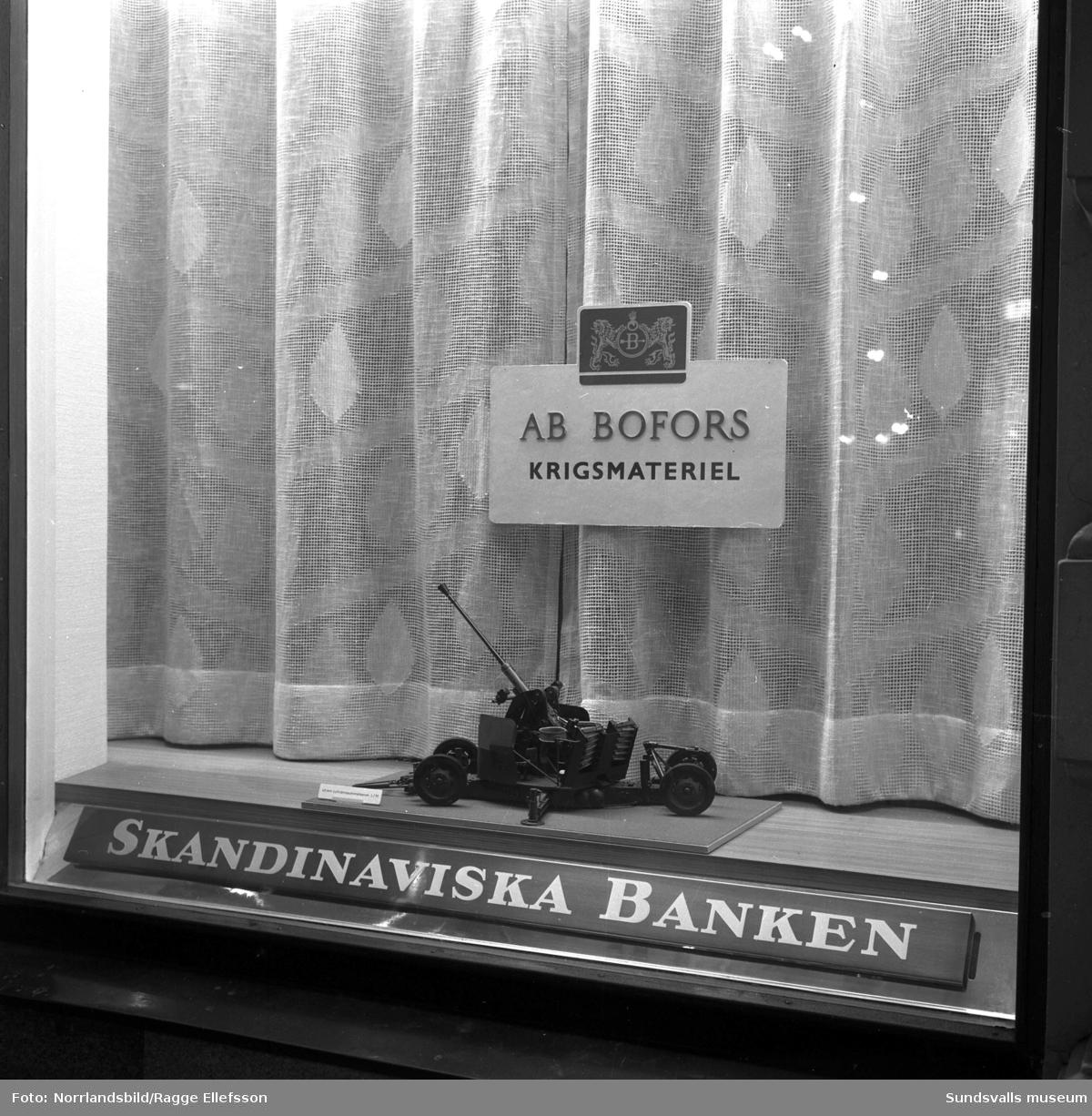 Skandinaviska bankens skyltning om Bofors.