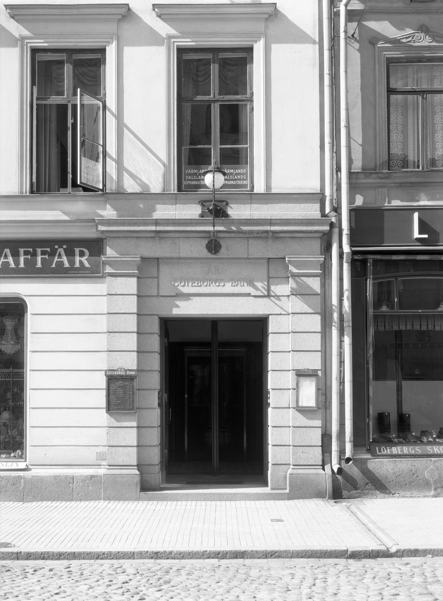 Göteborgsbanken år 1935 i den tidigare fastigheten i hörnet Drottninggatan–Västra Torggatan.