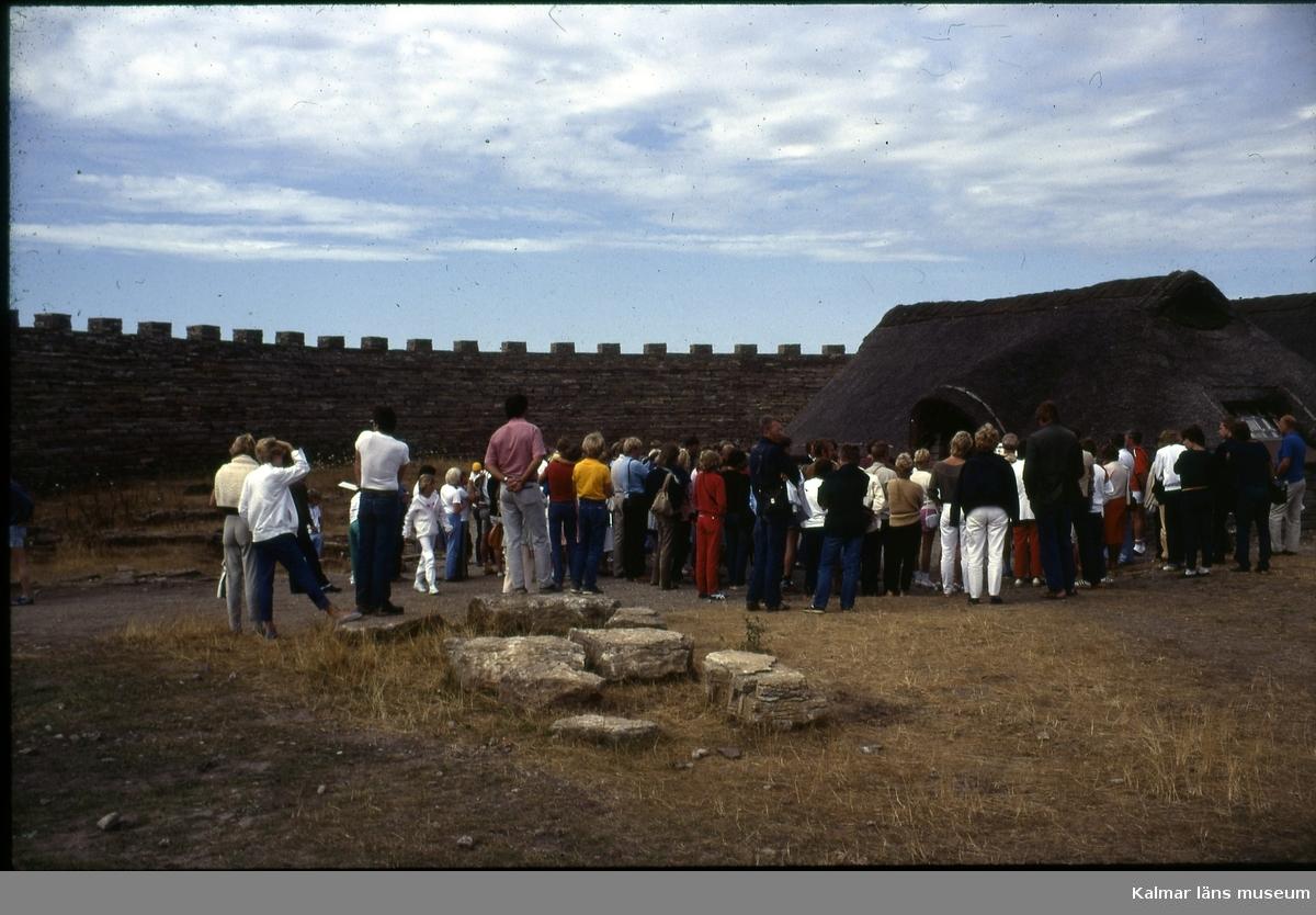 Eketorps borg är en fornborg från järnåldern belägen på Alvaret i Gräsgårds socken på sydöstra Öland. Borgen byggdes ut avsevärt under medeltiden och har genom tiderna haft växlande funktioner; från tidigare defensiv ringborg till medeltida fristad, och senare förläggning för en kavallerigarnison. Under 1900-talet rekonstruerades Eketorp och blev ett populärt turistmål. Platsen har använts för att visa medeltida hantverk och tekniker och har också använts för att iscensätta medeltida slag.Eketorp är det enda av 19 kända förhistoriska försvarsverk på Öland som har blivit fullständigt utgrävt. Bara vid Eketorp hittades 24 000 olika föremål. Södra Ölands odlingslandskap klassades 2000 som världsarv av Unesco.  Eketorp uppfördes av den ursprungliga järnåldersbefolkningen runt år 400 e.Kr. - under en period då de bosatta hade nära band till Romarriket. En teori är att ringborgar vid den här tiden var en religiös samlingsplats där ceremonier utfördes. Samtidigt skyddade befästningen lokalbefolkningen när fiender invaderade. Den runda formen beror möjligen på läget. Ute på flack mark kunde anfall komma från vilket håll som helst. Det första försvarsverket mätte cirka 57 meter i omkrets. Kalksten användes, stenarna staplats på varandra. Bruk eller annat bindmedel användes inte.  På 500-talet utökades cirkeln till cirka 80 meter i diameter. Från den här tiden har man hittat ett femtiotal celler, eller mindre strukturer inom anläggningen. Vissa låg mitt i borgen och andra var inbyggda i ringmuren. Under senare delen av 600-talet övergavs borgen utan. Orsaken är inte känd. Borgen förblev oanvänd till tidigt 1000-tal, då den byggdes upp på nytt. Den gamla strukturen användes, med undantag för att vissa av de inre strukturerna som tidigare var i sten ersattes med timmerkonstruktioner. Dessutom restes en andra försvarsmur. Enligt arkeologer som bott i Eketorp under vinterförhållanden, kan husen uppvärmas till 25 grader genom bara att med ved elda i befintliga enkla eldstäder med 