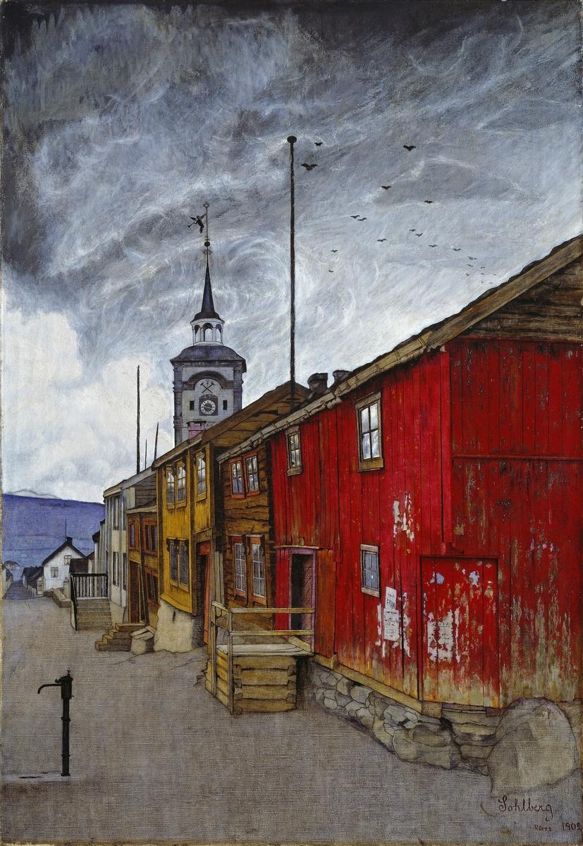 Gate i Røros [Maleri]