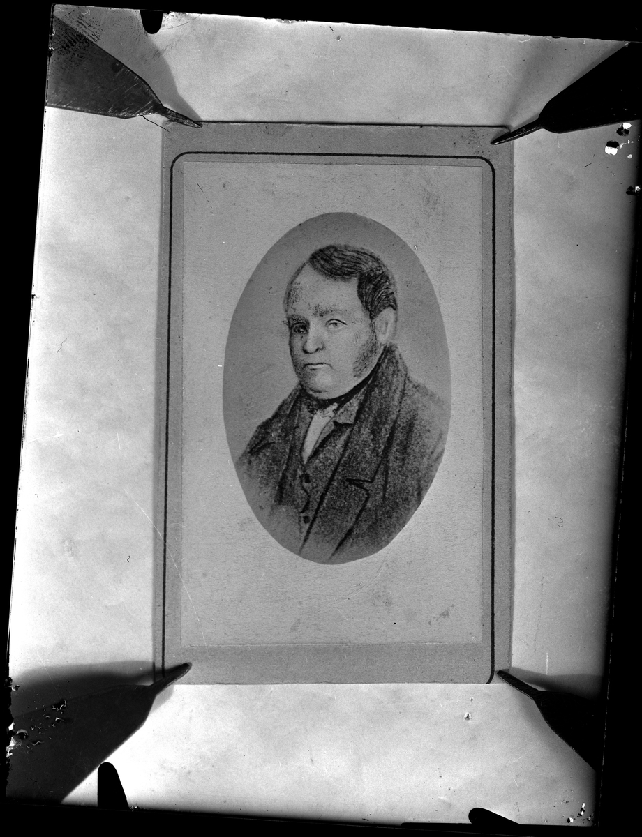 Riksgäldsfullmäktige Carl Eriksson (1797-1857). Herre till V. Wreta. Fotograf okänd.