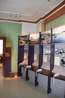 Telegrafstasjoner. Lødingen, Telemuseets utstilling