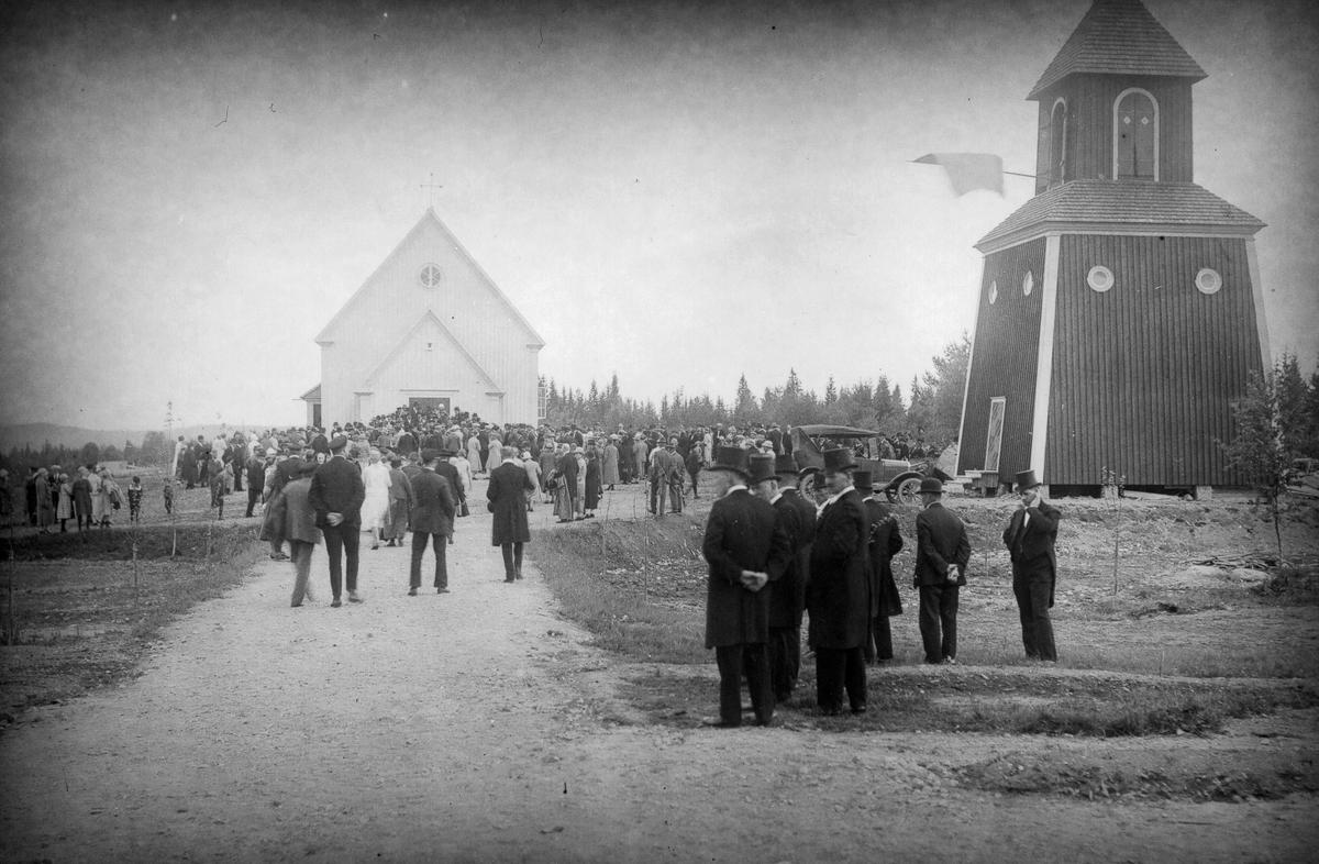 Från invigningen av Gruvbergets kapell den 4 juli 1927.