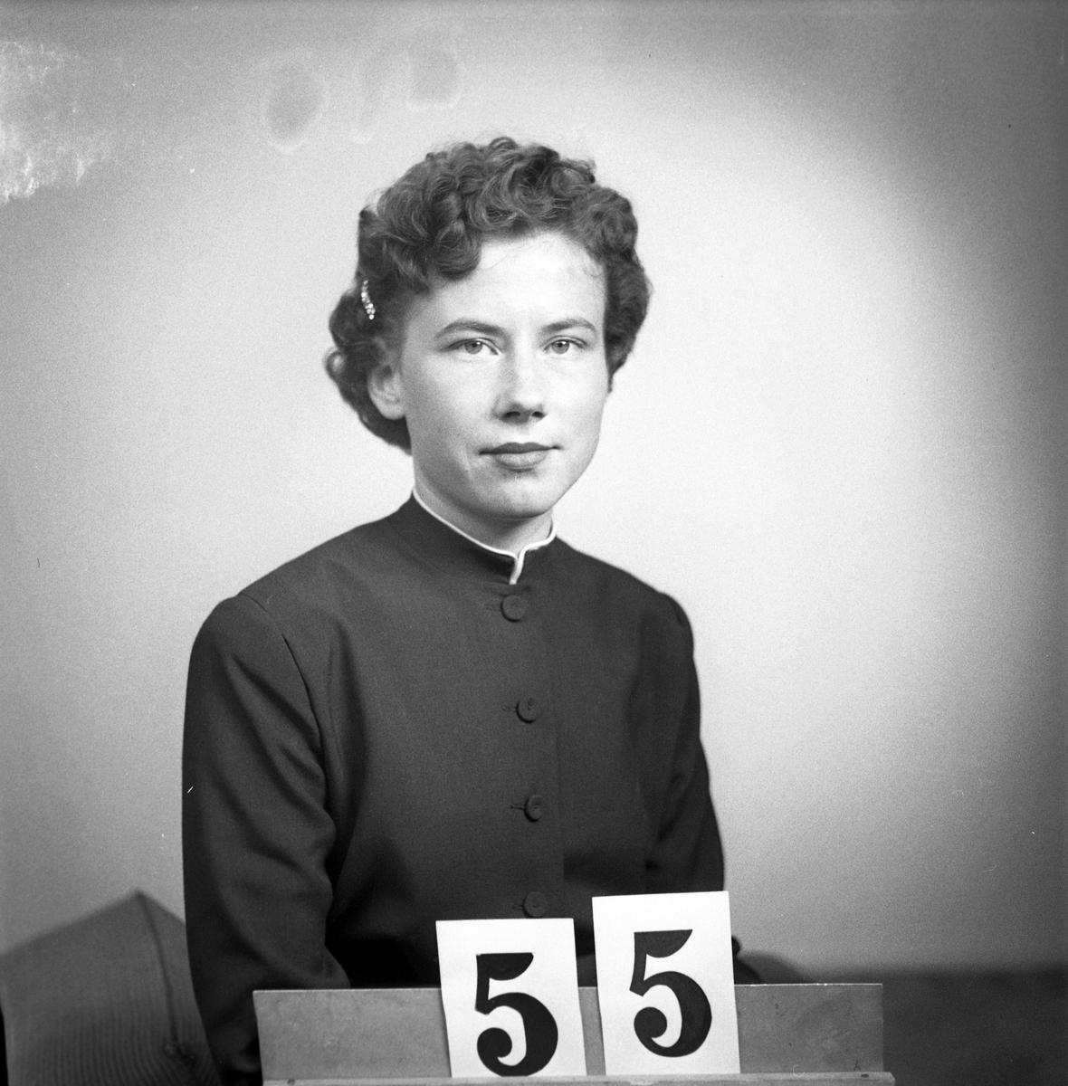 Telegrafverket legitimationskort. April 1952. Fotografi nr 55.