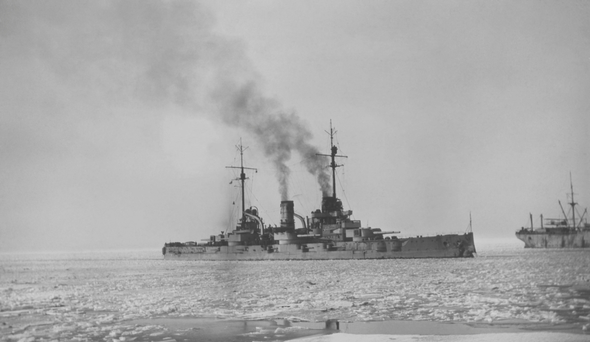 Det tyska slagskeppet RHEINLAND vid Åland 1918