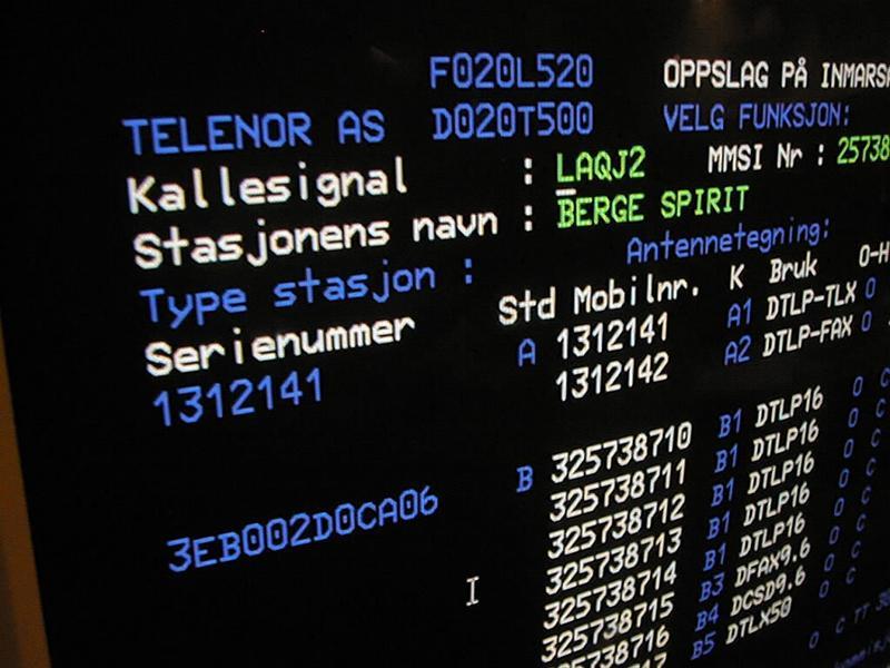 Radio- og kringkastingsstasjoner. Rogaland kystradio mottakerstasjon skjerm (Foto/Photo)