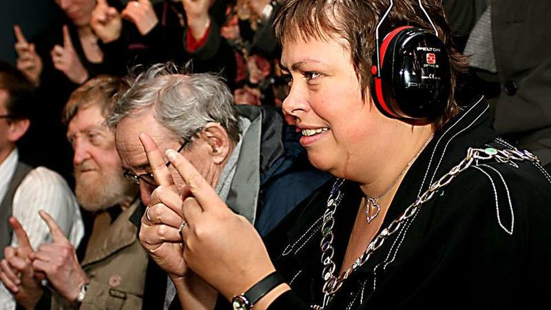 Ordfører i Trondheim, Rita Ottervik, på besøk i museet i 2009