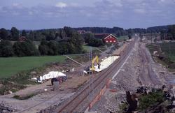 Arbeidet med dobbeltsporet Såstad-Haug