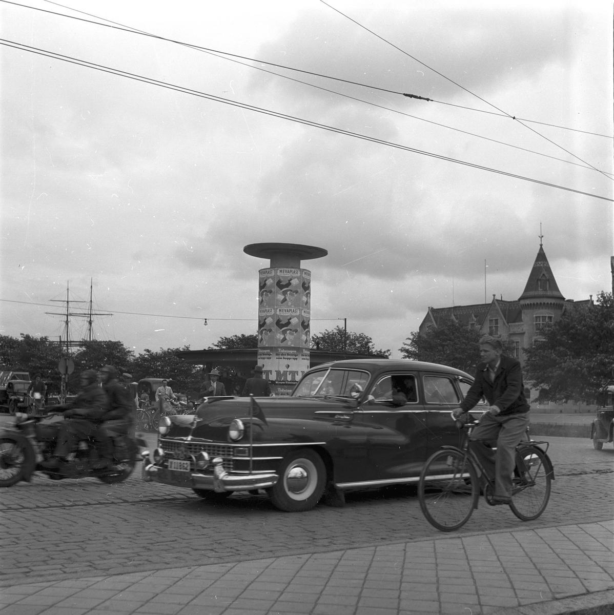 Folknykterhetens dag. Demonstrationståg till Boulognerskogen. År 1949. Reportage för Gefle Dagblad.