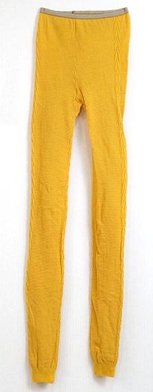 Tettsittende strømpebukse uten fot - tights. Strikk i livet, flettemønster.