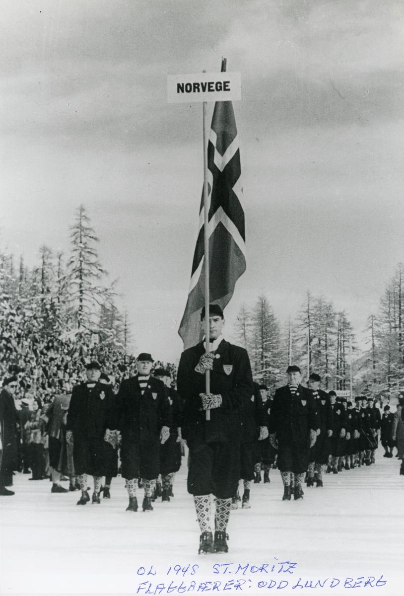 The Norwegian team at OG St. Moritz 1948