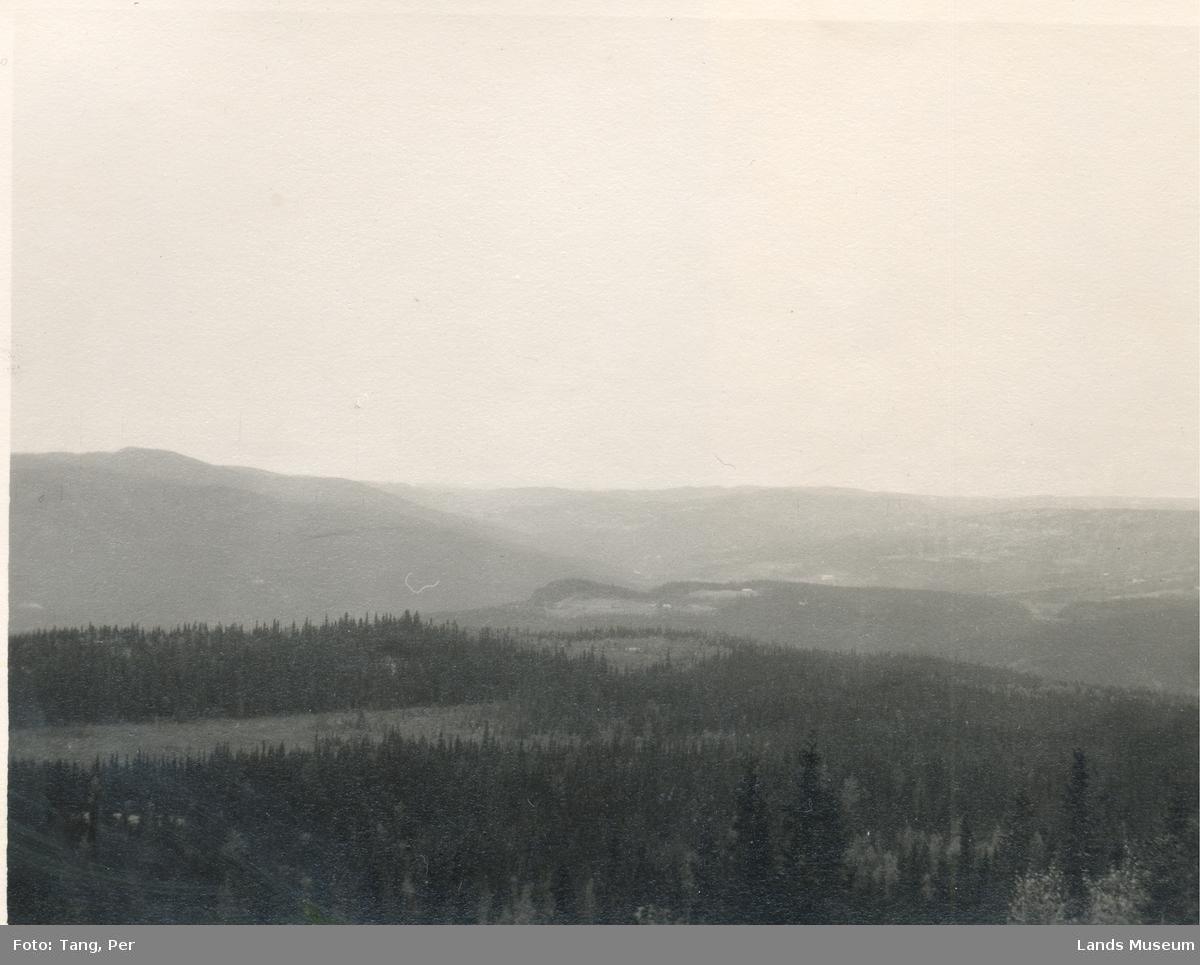 Utsikt fra Brattråk, mot vest