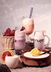 Milkshakes, jordgubbar, grapefrukt m m